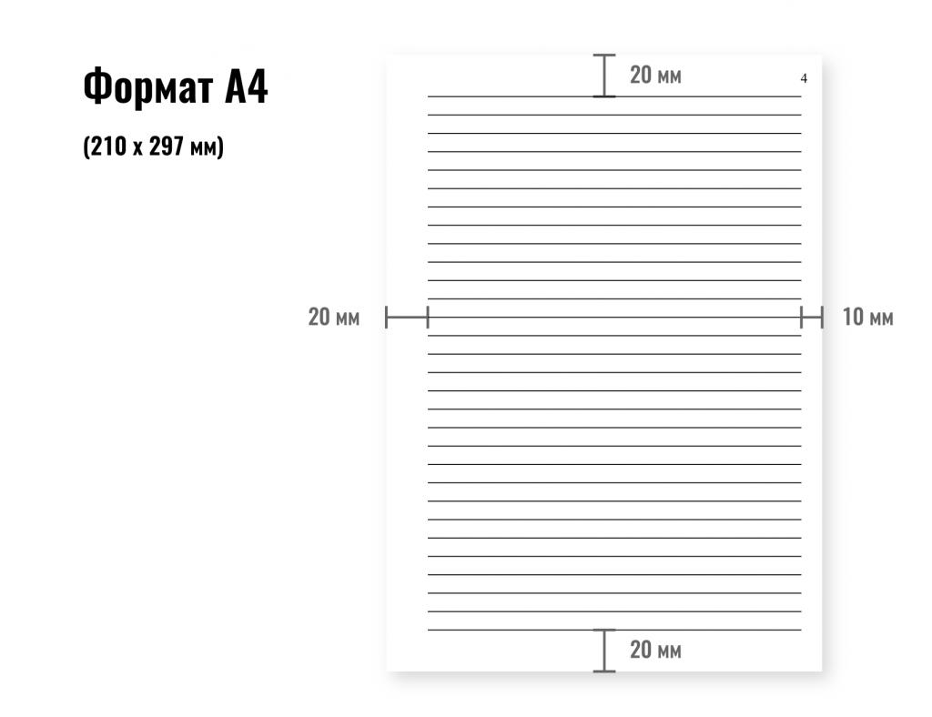 поля сторінки А4